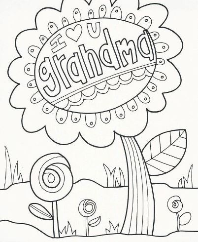 Free Printable Birthday Cards For Grandma To Color